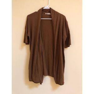 🍂 rusty brown waterfall short sleeve cardigan 🍂